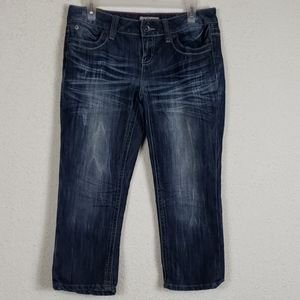 YMI cropped distressed Jean's size 3
